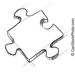 puzzle, morceau