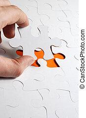 puzzle, morceau, fond, disparu