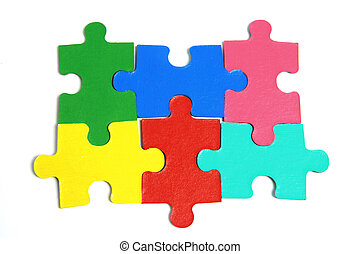 puzzle, morceaux denteux