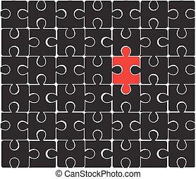 puzzle, noir