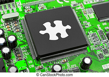 Puzzle on computer chip