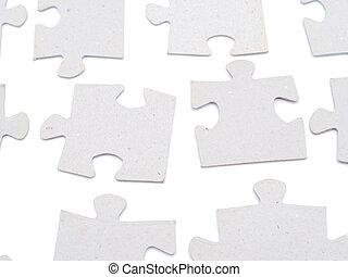puzzle on white background