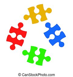 Puzzle on white background, stock vector illustration