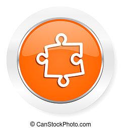 puzzle orange computer icon