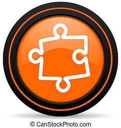 puzzle orange icon
