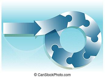 puzzle, organigramme