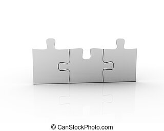 puzzle over a white background