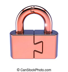 Puzzle padlock lock closed security code protection conundrum