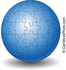 puzzle, palla