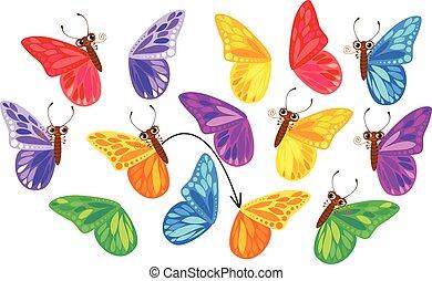 puzzle, papillons