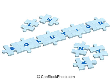 puzzle, parola, soluzione, fette