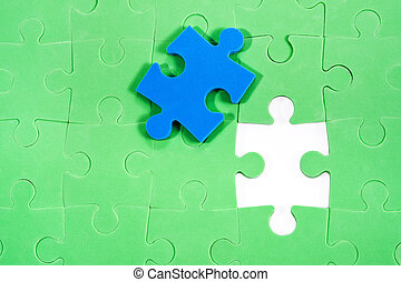 puzzle, parte, eccezionale