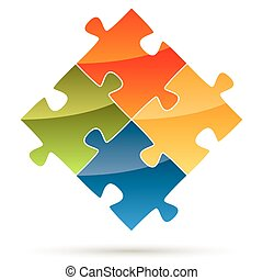 puzzle, parties, collaboration