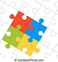 puzzle parts for teamwork