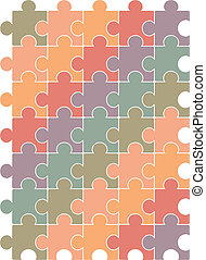 Puzzle pattern design template