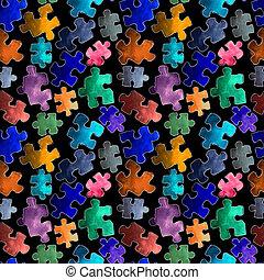 puzzle pattern seamless. Cartoon puzzle Seamless wallpaper