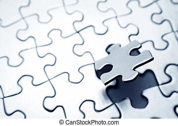 Puzzle piece - Final piece of jigsaw puzzle