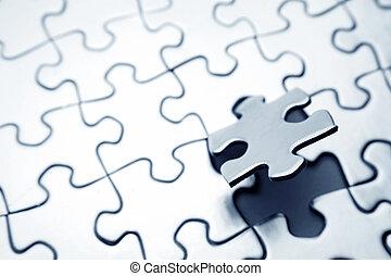 Puzzle piece - Final piece of jigsaw puzzle