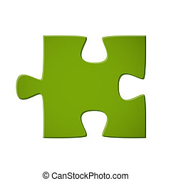 Puzzle piece green