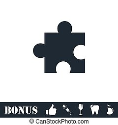 Puzzle Pieces Icons With Shadows And