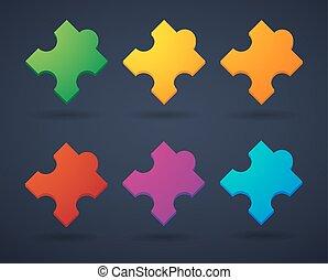 Puzzle piece icon set