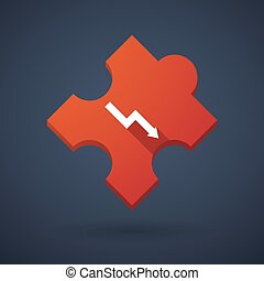 Puzzle piece icon with a graph