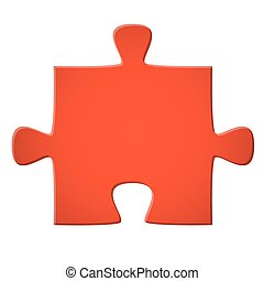 Puzzle piece red