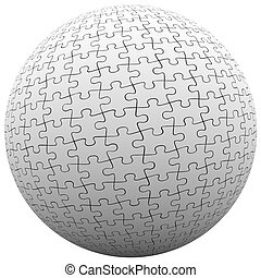 Puzzle Piece Sphere Ball Fit Together Peace Harmony