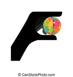 Puzzle piece symbol