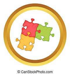 Puzzle piece vector icon