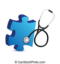 puzzle piece with a Stethoscope