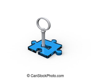 puzzle piece with key