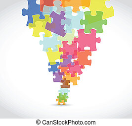 puzzle pieces art illustration design