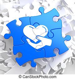 Puzzle Pieces: Charity Concept.