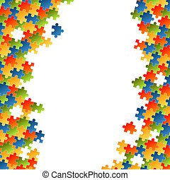 Puzzle pieces colorful background