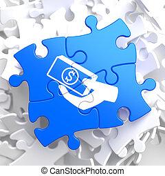 Puzzle Pieces: Donate Concept. - Donate Concept - Icon of ...