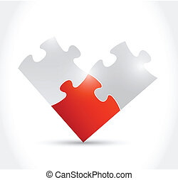 puzzle pieces illustration design