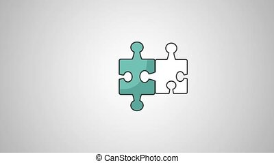 puzzle pieces joining HD definition - puzzle pieces joining...