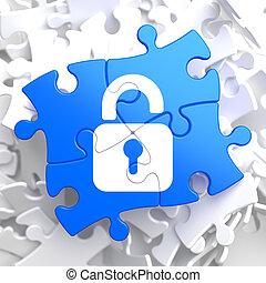 Puzzle Pieces: Security Concept.