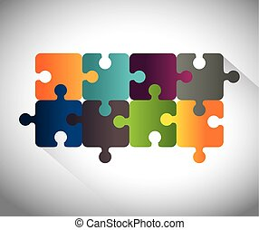 Puzzle pieces teamwork