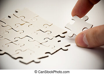 puzzle pieces with missing peace