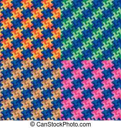 Puzzle Plaid Patterns