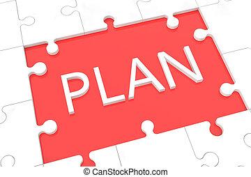 Puzzle plan concept