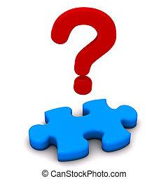 puzzle, point interrogation