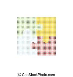 puzzle, puzzle, coloré, morceaux