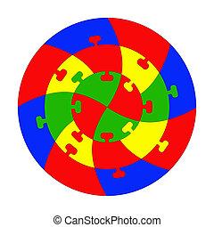 puzzle, puzzle., concentrique