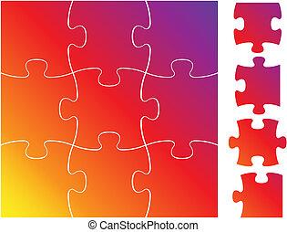 puzzle, puzzle, ensemble, complet, /