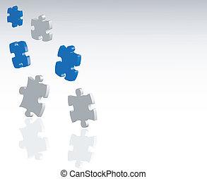 puzzle, puzzle, fond