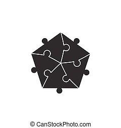 puzzle, puzzle, fond, morceaux