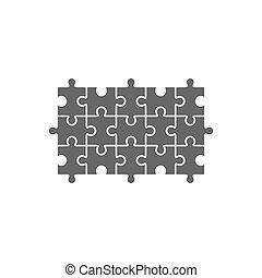 puzzle, puzzle, gabarit, vide